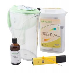 Йонизатор за алкална вода, пречистваща кана, рН метър, буферен разтвор